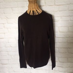 J.Crew merino wool sweater with zippers XL